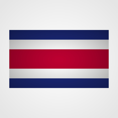 bandera de costa rica: Costa Rica flag on a gray background. Vector illustration