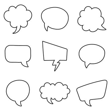replica: Speech bubbles set on a white background. Vector illustration