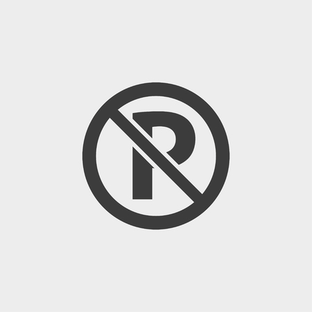 No parking icon in a flat design in black color.