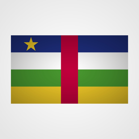 Central African Republic flag on a gray background. Vector illustration