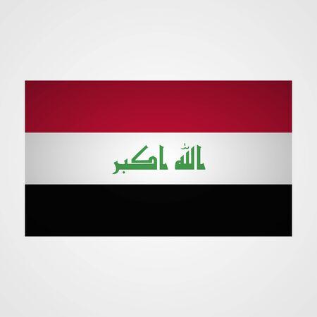 taliban: Iraq flag on a gray background. Vector illustration