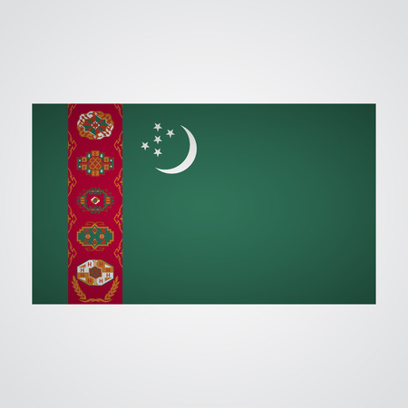 turkmenistan: Turkmenistan flag on a gray background. Vector illustration
