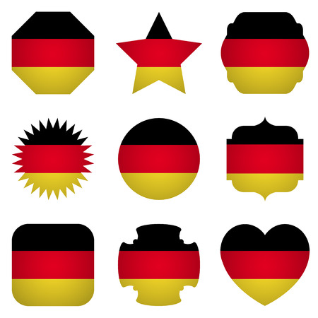 different shapes: Germany flag with different shapes on a white background Illustration