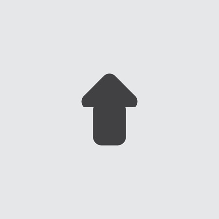 unfold: Arrow up icon in a flat design in black color. Vector illustration