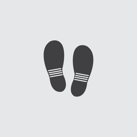 shoeprint: Shoes icon in a flat design in black color. Vector illustration