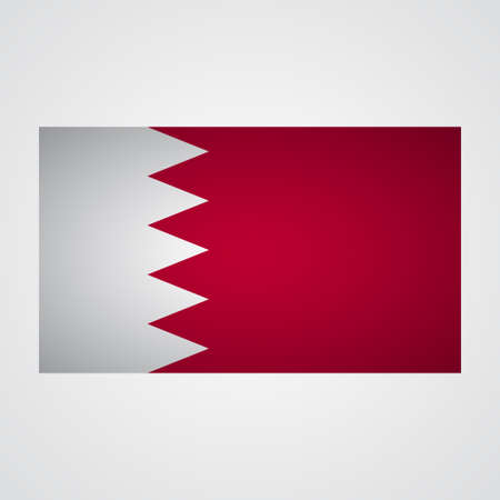 proportional: Bahrain flag on a gray background. Vector illustration