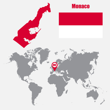 Hungary map on a world map with flag and map pointer vector monaco map on a world map with flag and map pointer vector illustration vector gumiabroncs Gallery