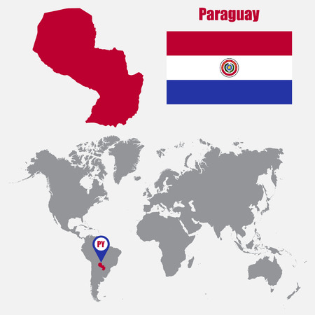 Paraguay Information Stock Vector Illustration And Royalty - Map of paraguay world