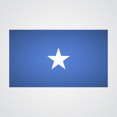 faded: Somalia flag on a gray background. Vector illustration