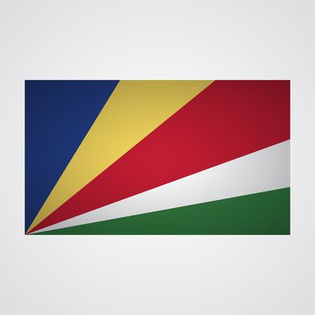 Seychelles flag on a gray background. Vector illustration Illustration