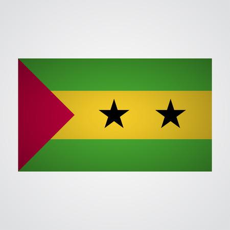 principe: Sao Tome y Principe bandera sobre un fondo gris. ilustración vectorial