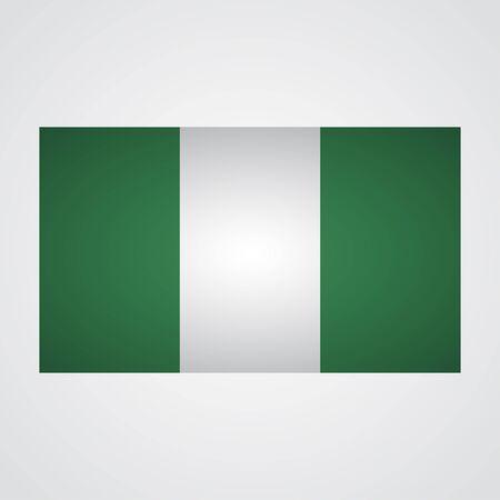 anthem: Nigeria flag on a gray background. Vector illustration