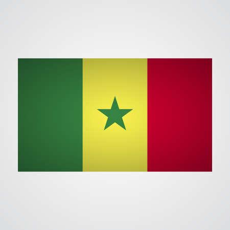 dakar: Senegal flag on a gray background. Vector illustration Illustration