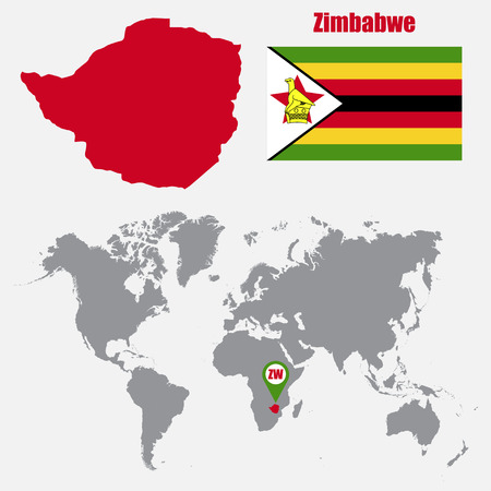 Zimbabwe map on a world map with flag and map pointer vector 62048064 zimbabwe map on a world map with flag and map pointer vector illustration gumiabroncs Choice Image