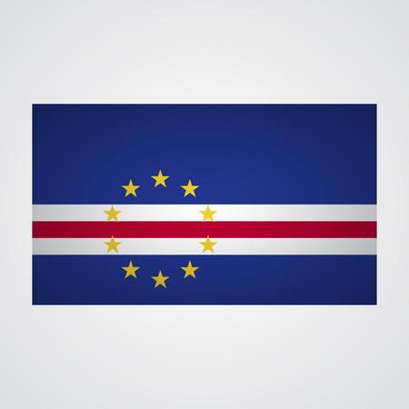 cape verde flag: Cape Verde flag on a gray background. Vector illustration
