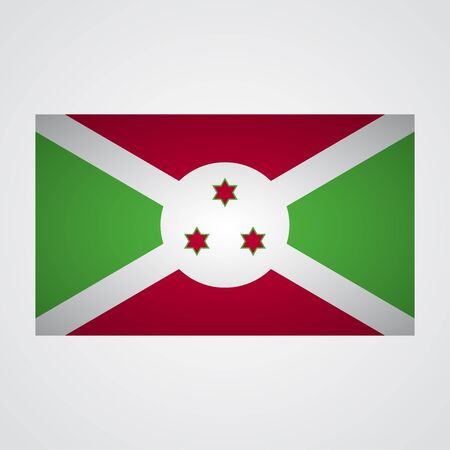 afrika: Burundi flag on a gray background. Vector illustration