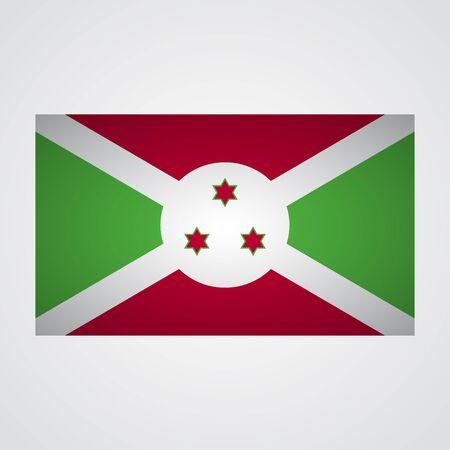 Burundi flag on a gray background. Vector illustration
