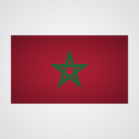 nationalist: Morocco flag on a gray background. Vector illustration