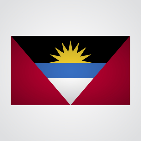antigua: Antigua and Barbuda flag on a gray background. Vector illustration Illustration