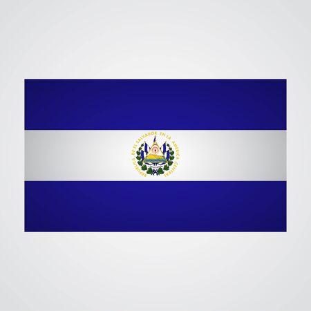 bandera de el salvador: bandera de El Salvador en un fondo gris. ilustración vectorial Vectores