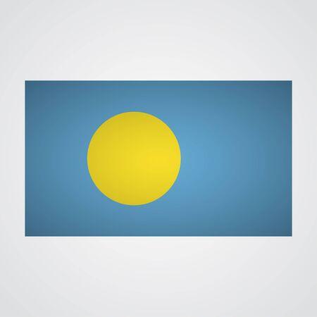 pullman: Palau flag flag on a gray background. Vector illustration Illustration