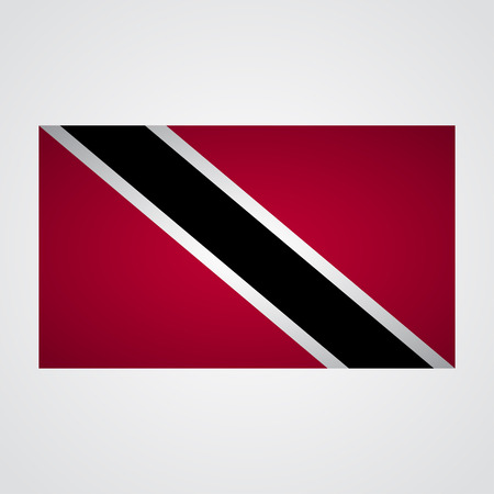 trinidadian: Trinidad flag flag on a gray background. Vector illustration