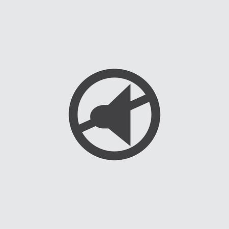 silent: Silent mode icon in a flat design in black color. Vector illustration Illustration