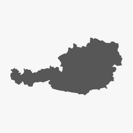 austria map: Austria map in gray on a white background Illustration