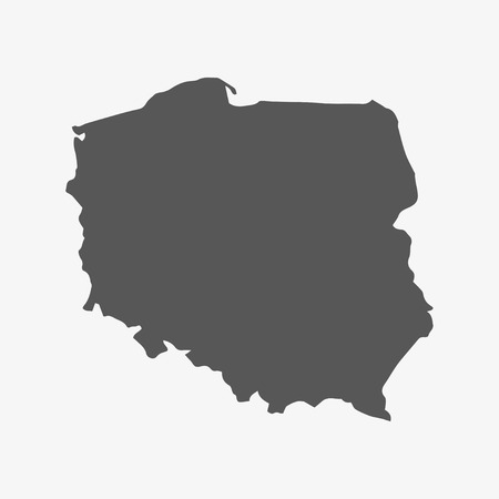 mercator: Poland map in gray on a white background Illustration