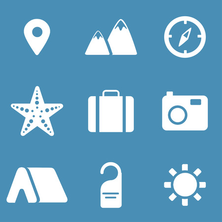 simplus: Travel and tourism icon set. Simplus series Illustration