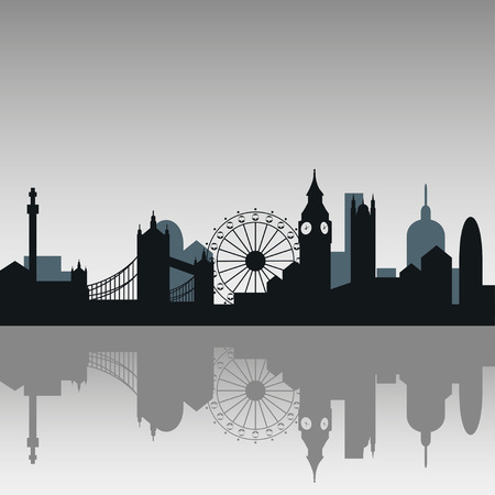 London city skyline silhouette background, vector illustration Banco de Imagens - 62692152