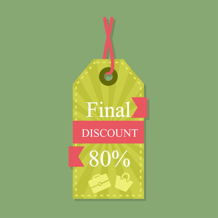 Colorful Vector Sale Tags. Big Sale, Special Offer, Hot Deal, Best Price Illustration