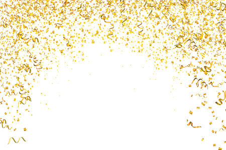 Golden confetti background. Golden glitter texture. Vector illustration