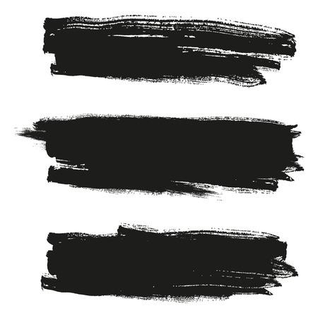 Set of grunge brush strokes. Hand painted watercolor brush strokes Banco de Imagens - 62692202