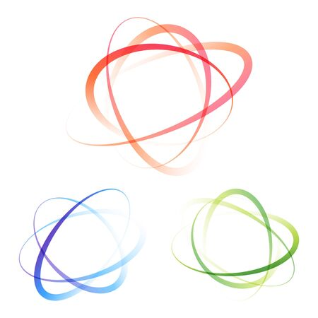 Abstract multicolor swirly swing circles background. Vector illustration