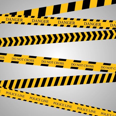 background csi: Police line and danger tapes. Vector illustration