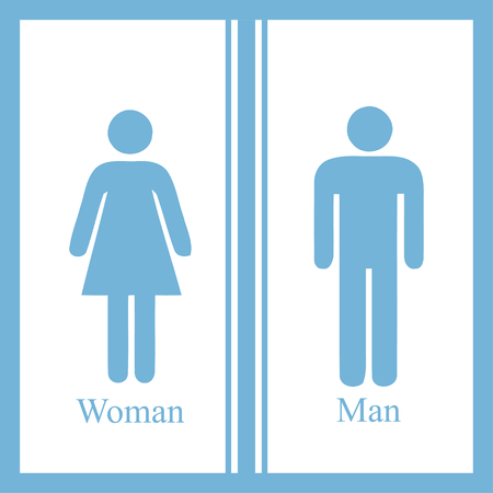 restroom sign: Man and Woman restroom sign. Vector illustration Illustration