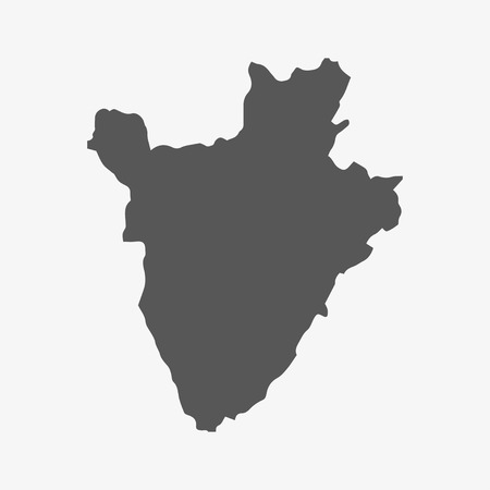 Burundi map in gray on a white background