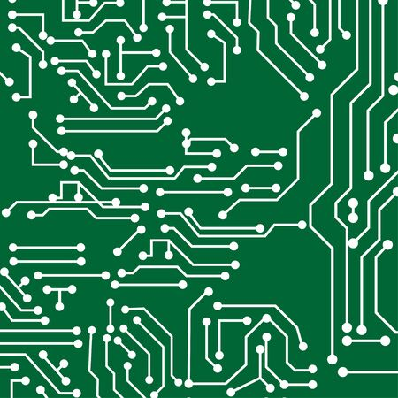 green back: Green back plate. Circuit board vector background Illustration