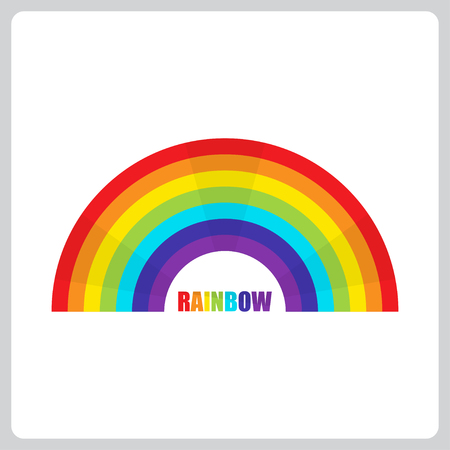 Rainbow icon in a flat design. Vector illustration EPS10