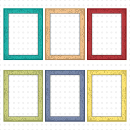 Wooden Picture Frames Color Set For Your Web Design Royalty Free ...