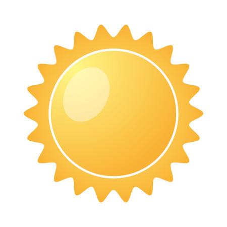 sun burst: Yellow Sun burst icon isolated on a white background. Vector illustration Illustration