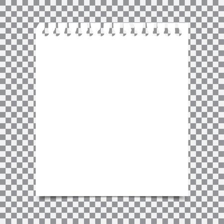 Lege realistische spiraal notitieblok notebook die op transparante achtergrond