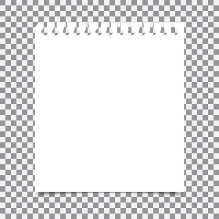 Lege realistische spiraal notitieblok notebook die op transparante achtergrond Stock Illustratie