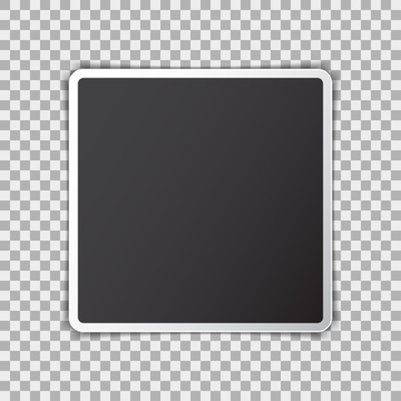 square sheet: Black blank poster mockup in square, sheet of paper on transparent background