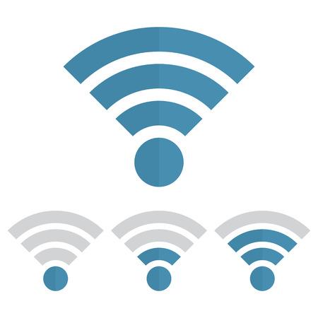 Indicator wifi communication set. Web router computing and telecommunications, maximum broadcast digital free and sharing Illustration
