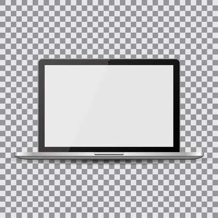 Blank screen. Realistic laptop on a transparent background