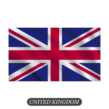 britannia: Waving UK flag on a white background. Vector illustration