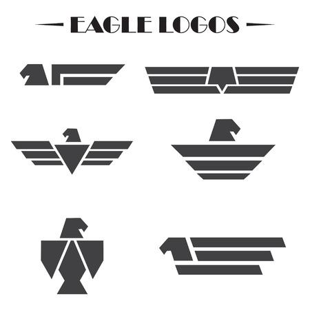 prophetic: Eagle logo set on a white background. Vector illustration Illustration