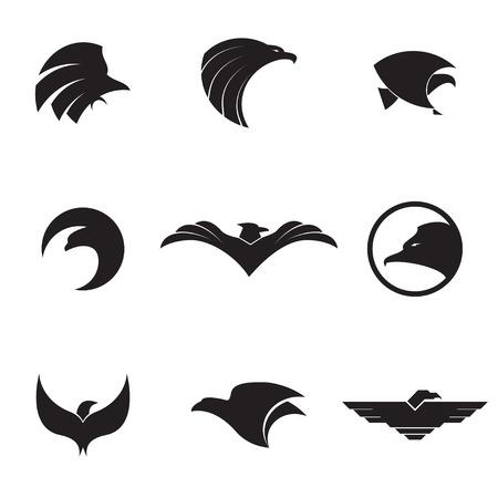 protection icon: Eagle logo set on a white background. Vector illustration Illustration